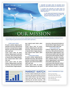 Technology, Science & Computers: Wind Energy Newsletter Template #01801