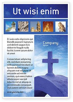Religious/Spiritual: Modelo de Anúncio - cruz azul #01804