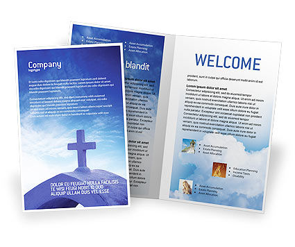 Blue Cross Brochure Template