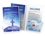 Religious/Spiritual: Blue Cross Brochure Template #01804