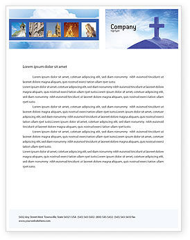 christian letterhead templates free - blue cross letterhead template layout for microsoft word