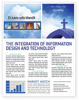 Religious/Spiritual: Blue Cross Newsletter Template #01804