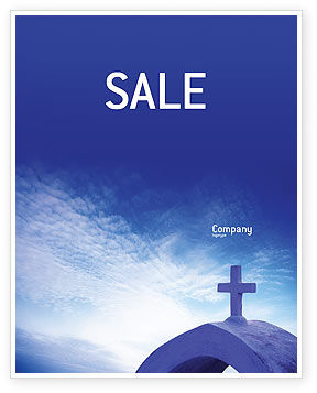 Religious/Spiritual: Blue Cross Sale Poster Template #01804