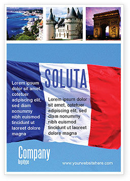 French Flag Ad Template, 01805, Flags/International — PoweredTemplate.com