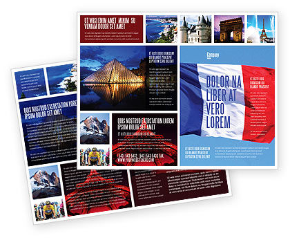 Flags/International: French Flag Brochure Template #01805