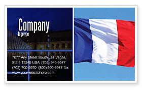 Flags/International: French Flag Business Card Template #01805