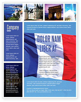 Flags/International: French Flag Flyer Template #01805