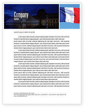 French Flag Letterhead Template, 01805, Flags/International — PoweredTemplate.com