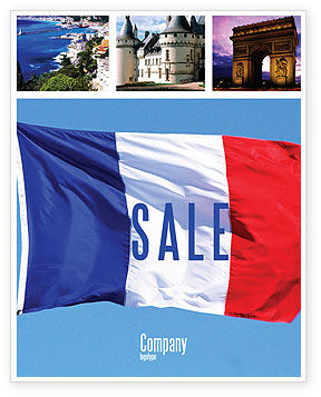 Flags/International: French Flag Sale Poster Template #01805