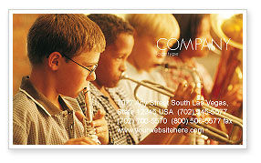 Art & Entertainment: Music School Business Card Template #01806