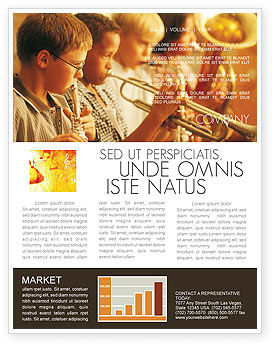 Art & Entertainment: Music School Newsletter Template #01806
