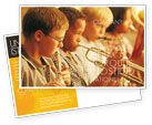 Art & Entertainment: Music School Postcard Template #01806
