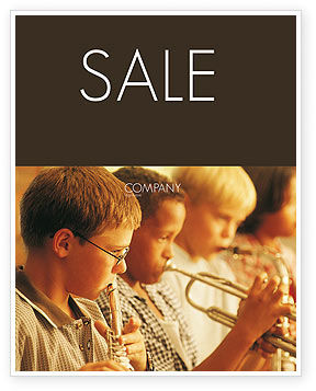Art & Entertainment: Music School Sale Poster Template #01806