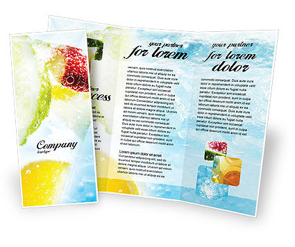 Soft Drink Brochure Template, 01808, Food & Beverage — PoweredTemplate.com