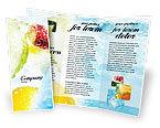 Food & Beverage: 팜플릿 템플릿 - 청량 음료 #01808