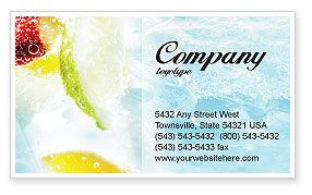 Soft Drink Business Card Template, 01808, Food & Beverage — PoweredTemplate.com
