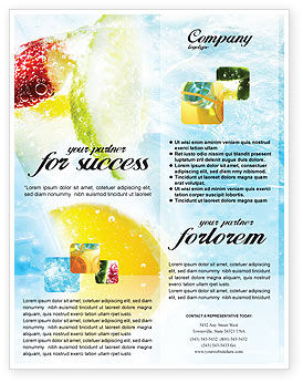 Food & Beverage: Soft Drink Flyer Template #01808