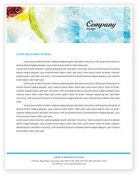 Food & Beverage: Soft Drink Letterhead Template #01808