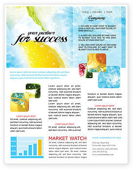 Soft Drink Newsletter Template, 01808, Food & Beverage — PoweredTemplate.com