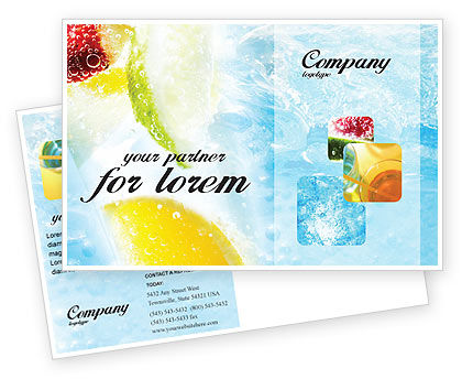 Food & Beverage: Soft Drink Postcard Template #01808
