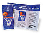 Sports: Basketball Match Brochure Template #01816