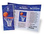 Sports: Plantilla de folleto - juego de básquetbol #01816