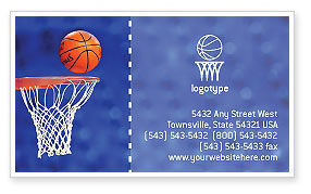 Basketball Match Business Card Template, 01816, Sports — PoweredTemplate.com