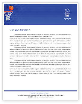Sports: Basketball Match Letterhead Template #01816