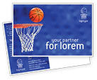 Sports: Basketball Match Postcard Template #01816