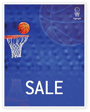 Sports: Basketball Match Sale Poster Template #01816