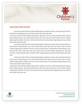 People: Children Of Different Races Letterhead Template #01817