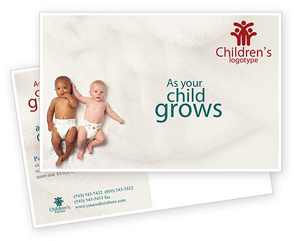 Children Of Different Races Postcard Template