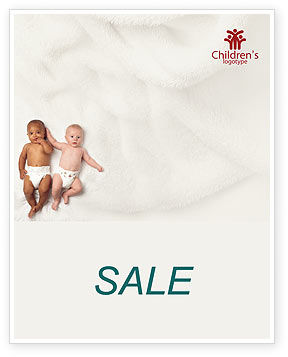 People: Children Of Different Races Sale Poster Template #01817