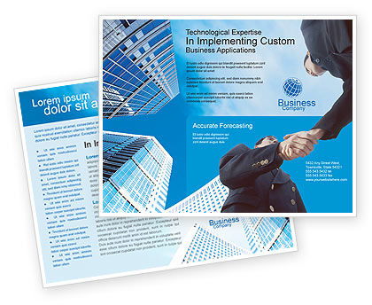 Business: Business Meeting Outdoor Brochure Template #01818
