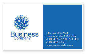 Business: Business Meeting Outdoor Business Card Template #01818
