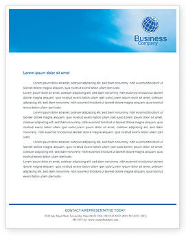 Business: Business Meeting Outdoor Letterhead Template #01818