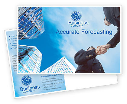 Business: Business Meeting Outdoor Postcard Template #01818