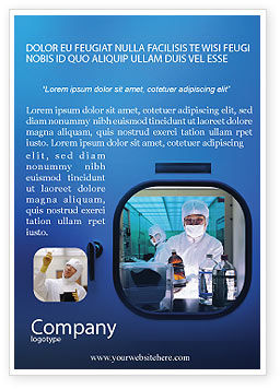 Laboratory Research Ad Template, 01819, Technology, Science & Computers — PoweredTemplate.com
