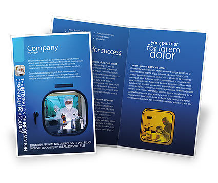 Laboratory Research Brochure Template
