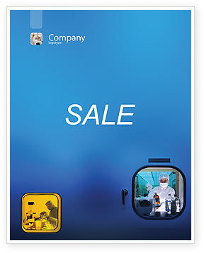 Technology, Science & Computers: Laboratory Research Sale Poster Template #01819