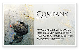 Nature & Environment: Water Pollution Business Card Template #01828