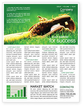 Sports: Baseball Glove and Bat Newsletter Template #01833