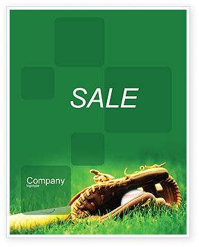 Sports: Baseball Glove and Bat Sale Poster Template #01833