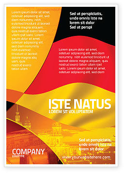 German Flag Ad Template, 01837, Flags/International — PoweredTemplate.com