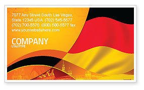 Flags/International: German Flag Business Card Template #01837