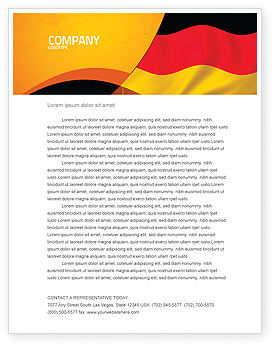German Flag Letterhead Template, 01837, Flags/International — PoweredTemplate.com