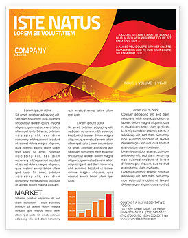 German Flag Newsletter Template, 01837, Flags/International — PoweredTemplate.com