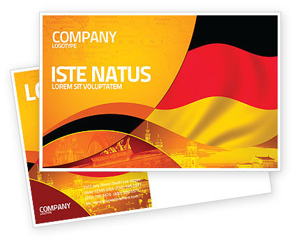 German Flag Postcard Template, 01837, Flags/International — PoweredTemplate.com