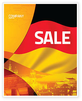 German Flag Sale Poster Template