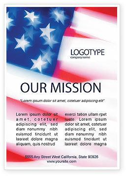 America: 美国的旗帜广告模板 #01851